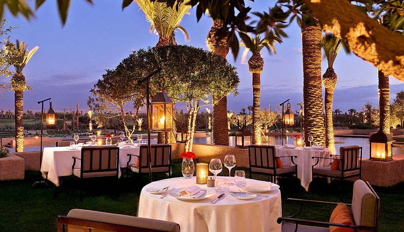 Le Caravane Restaurant im Fairmont Royal Palm, Marrakesch / Golfreisen Marokko