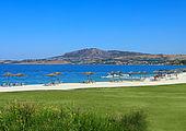 Strand vom Verdura Golf Spa Resort auf Sizilien, Italien