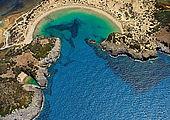 Voidokilia Beach in der Nähe des The Westin Resort Costa Navarino / Golfreisen Griechenland